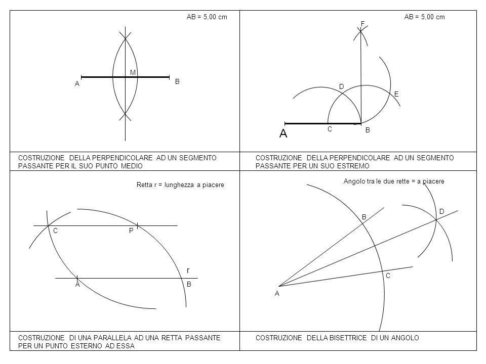 A r AB = 5,00 cm AB = 5,00 cm B C D E F B A M
