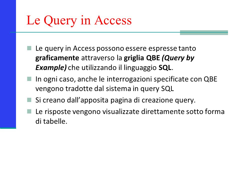 Le Query in Access