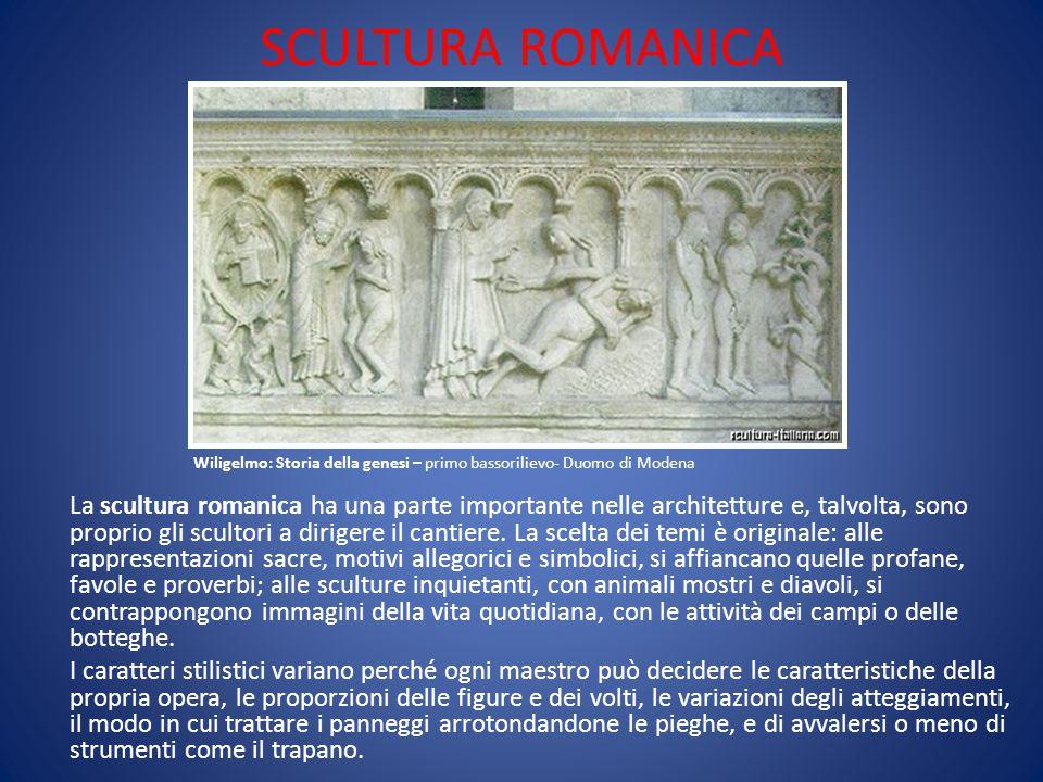 SCULTURA ROMANICA Wiligelmo: Storia della genesi – primo bassorilievo- Duomo di Modena.
