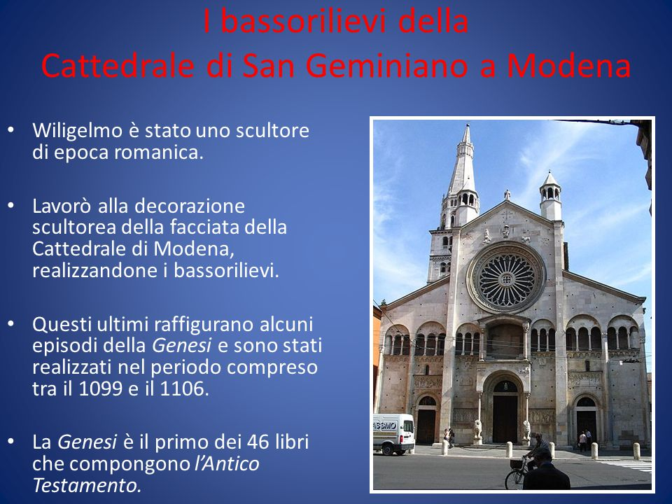I bassorilievi della Cattedrale di San Geminiano a Modena