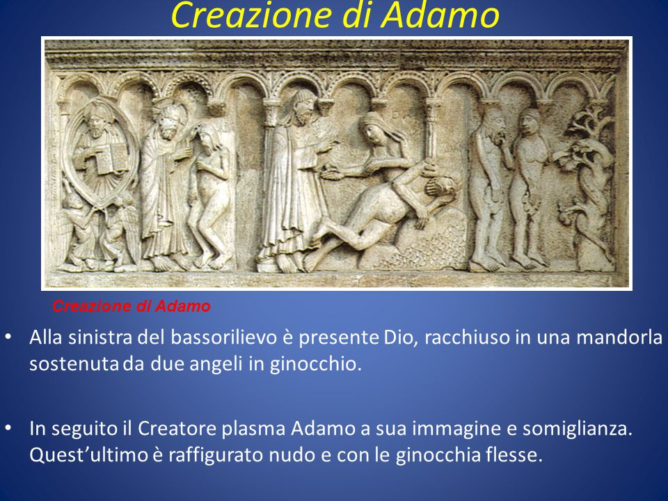 Creazione di Adamo Creazione di Adamo.