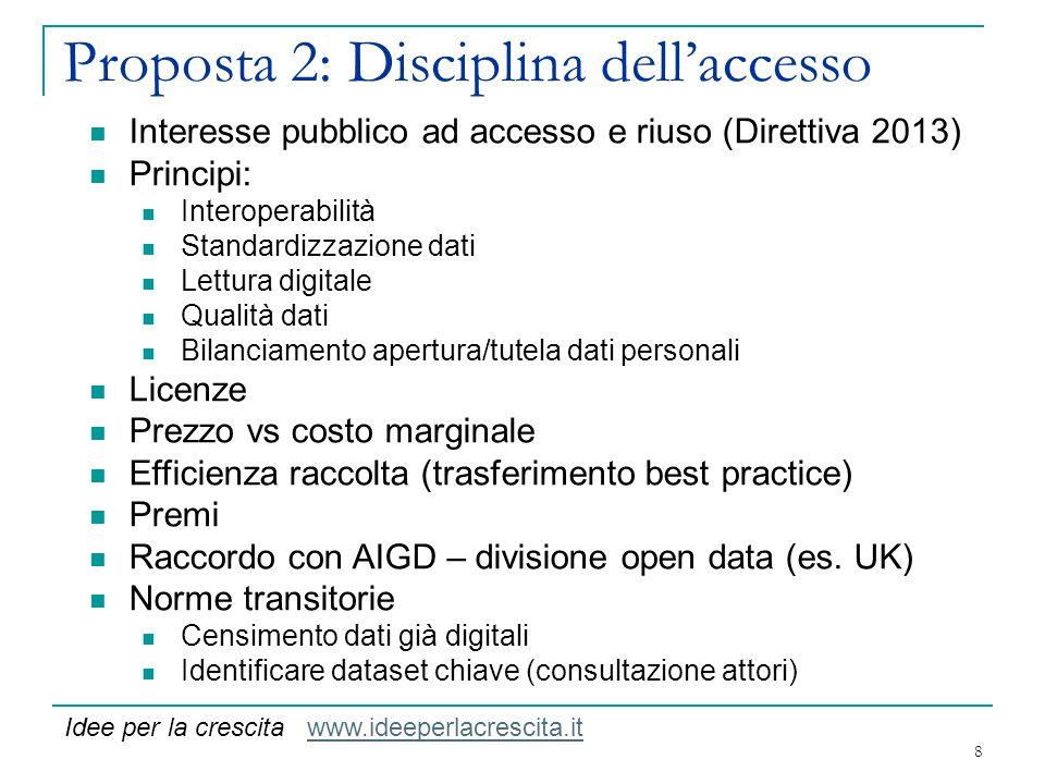 Proposta 2: Disciplina dell'accesso