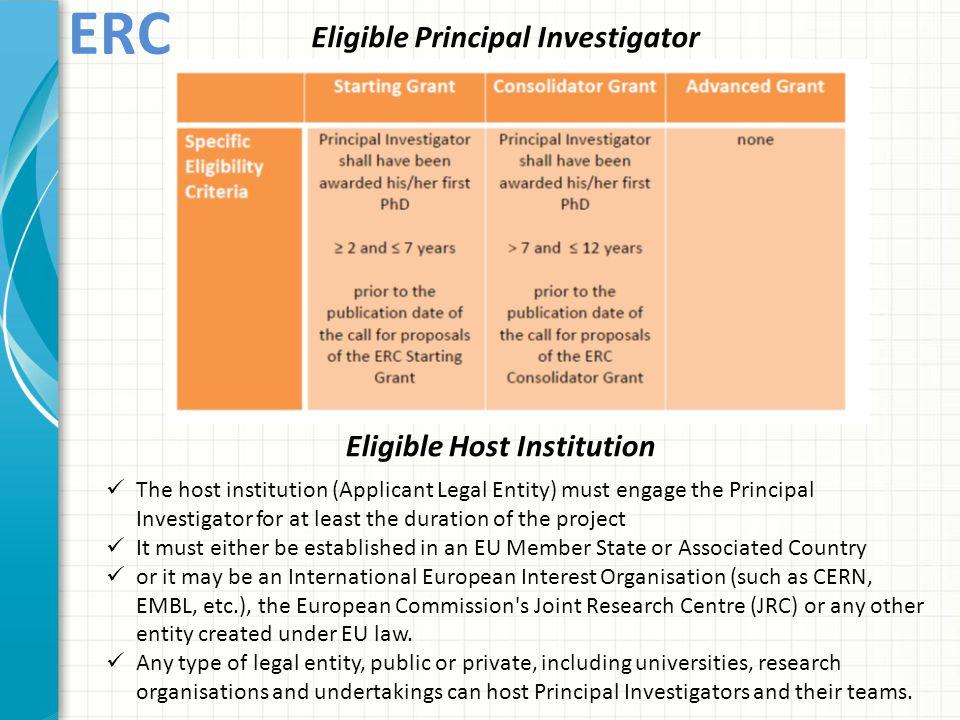 Eligible Principal Investigator