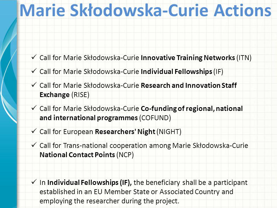 Marie Skłodowska-Curie Actions