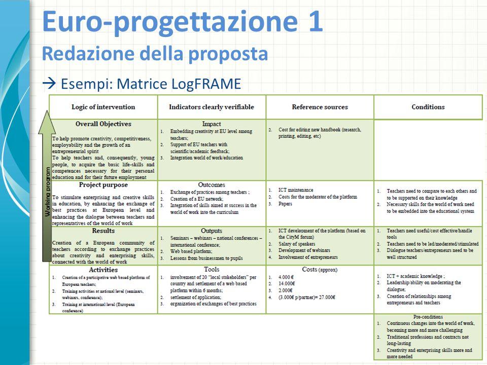 Euro-progettazione 1 Redazione della proposta