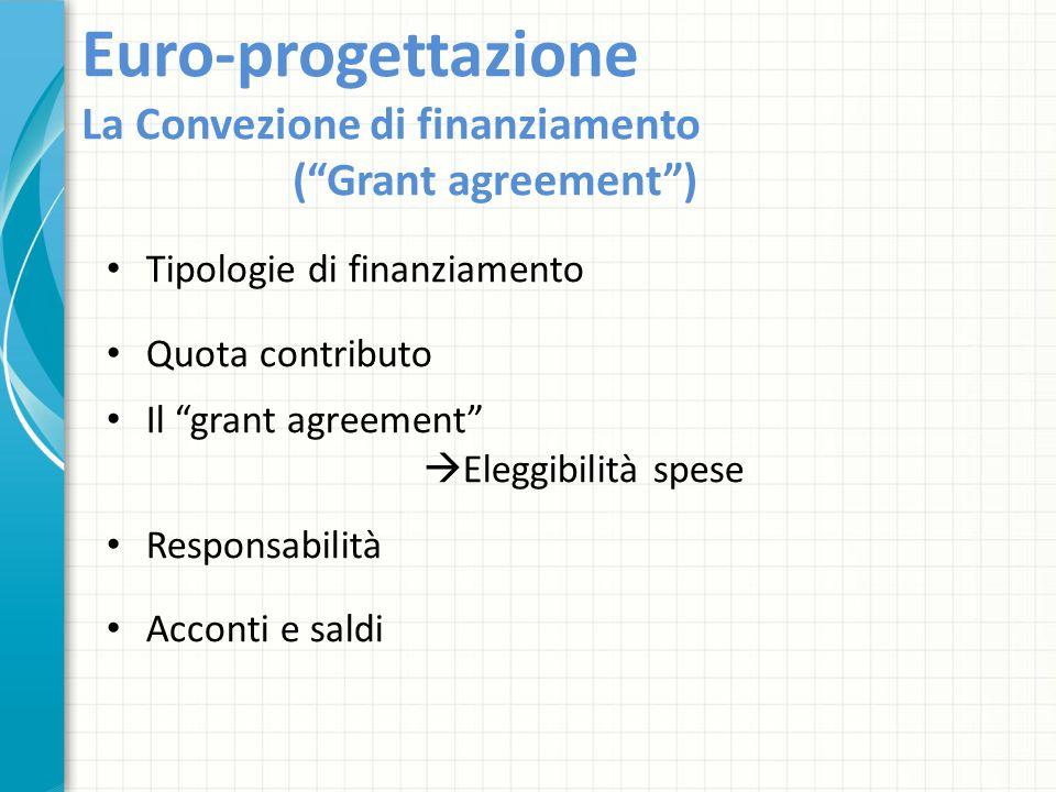 Euro-progettazione La Convezione di finanziamento ( Grant agreement )