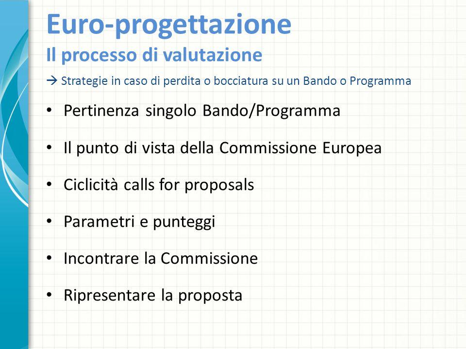 Euro-progettazione Il processo di valutazione