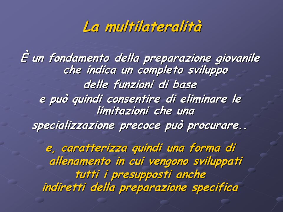 La multilateralità