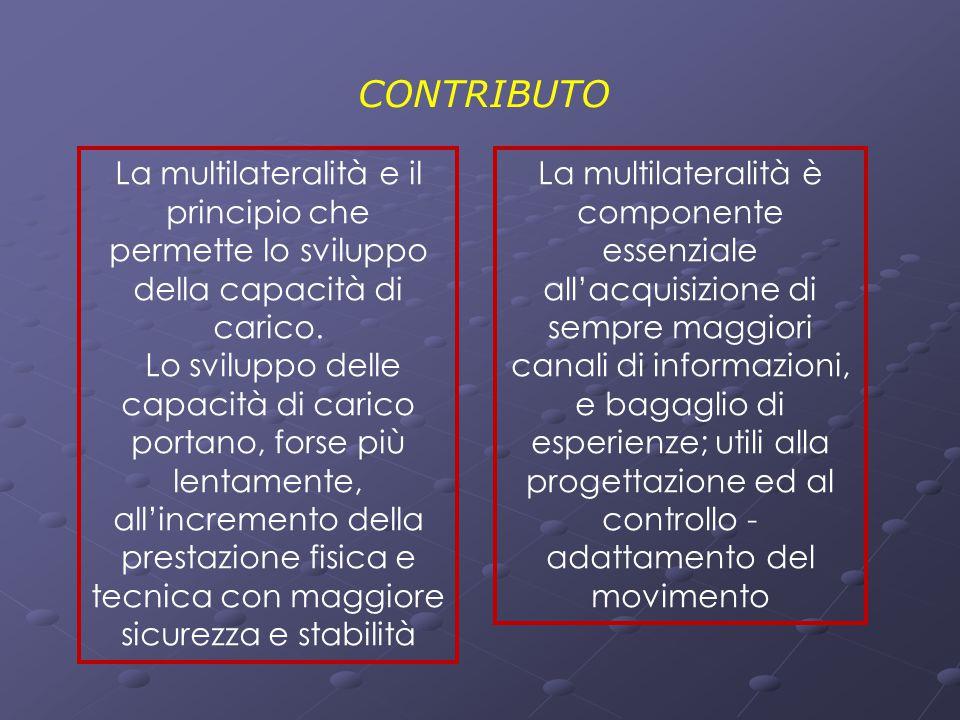 CONTRIBUTO La multilateralità e il principio che