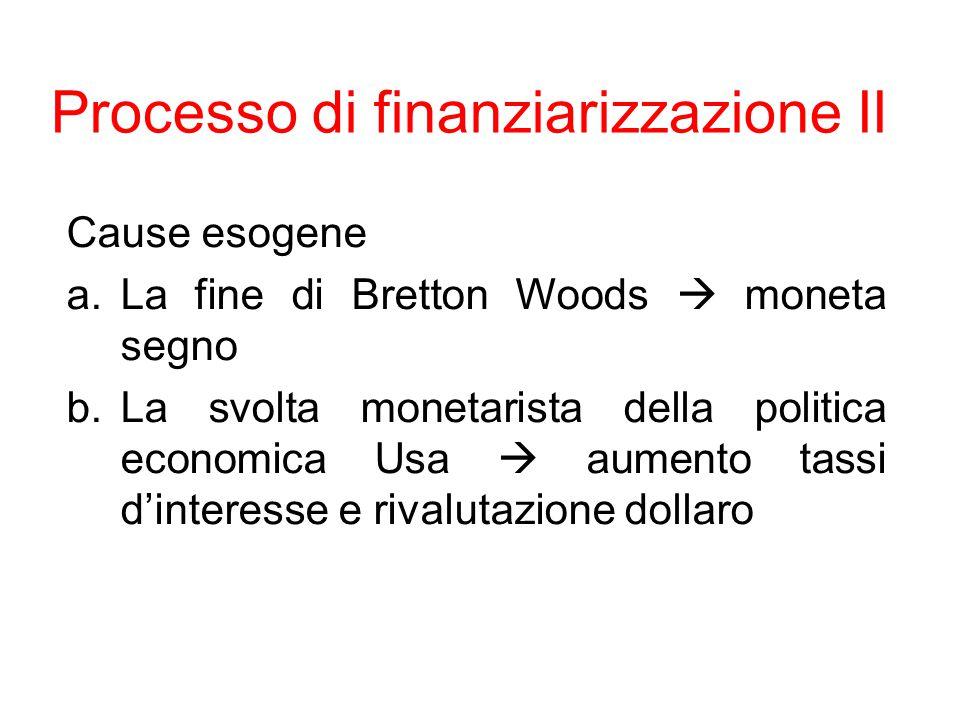 Processo di finanziarizzazione II