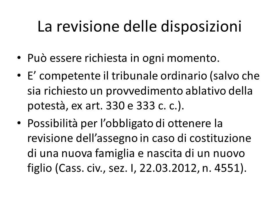 La revisione delle disposizioni