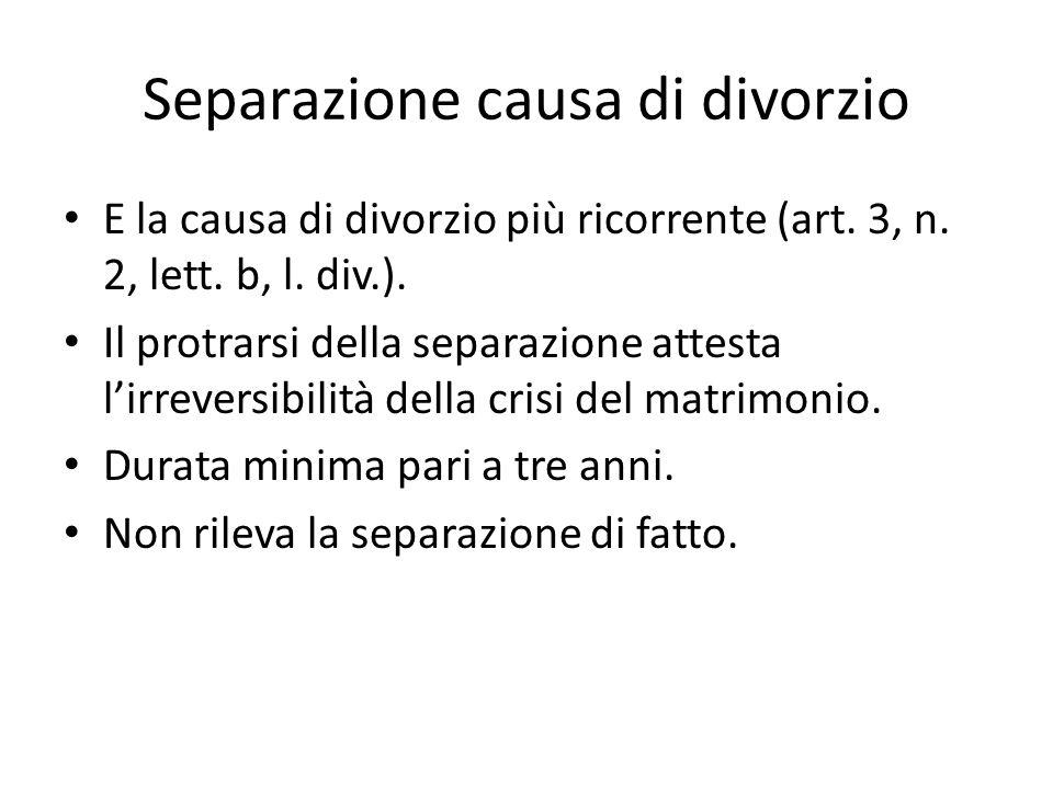 Separazione causa di divorzio