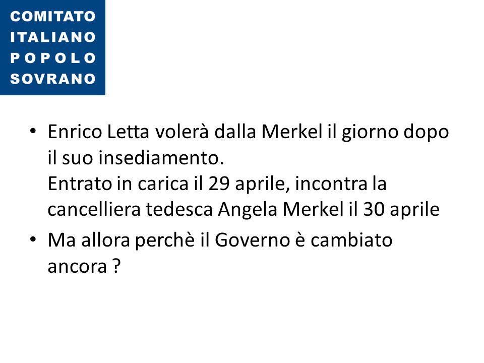 Enrico Letta volerà dalla Merkel il giorno dopo il suo insediamento