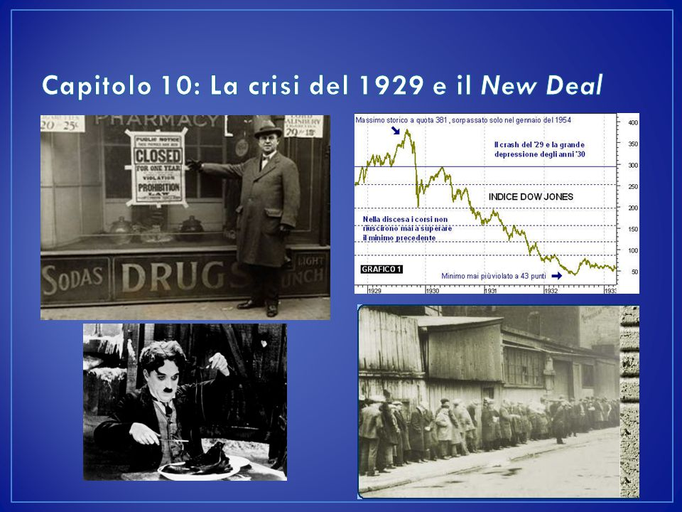 Capitolo 10: La crisi del 1929 e il New Deal