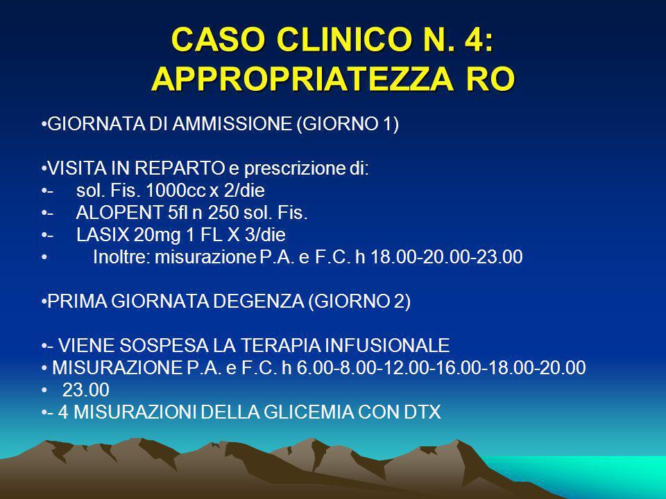 CASO CLINICO N. 4: APPROPRIATEZZA RO