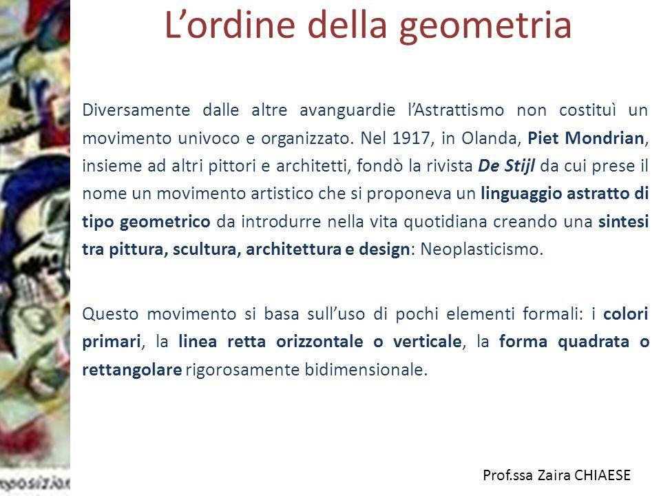L'ordine della geometria