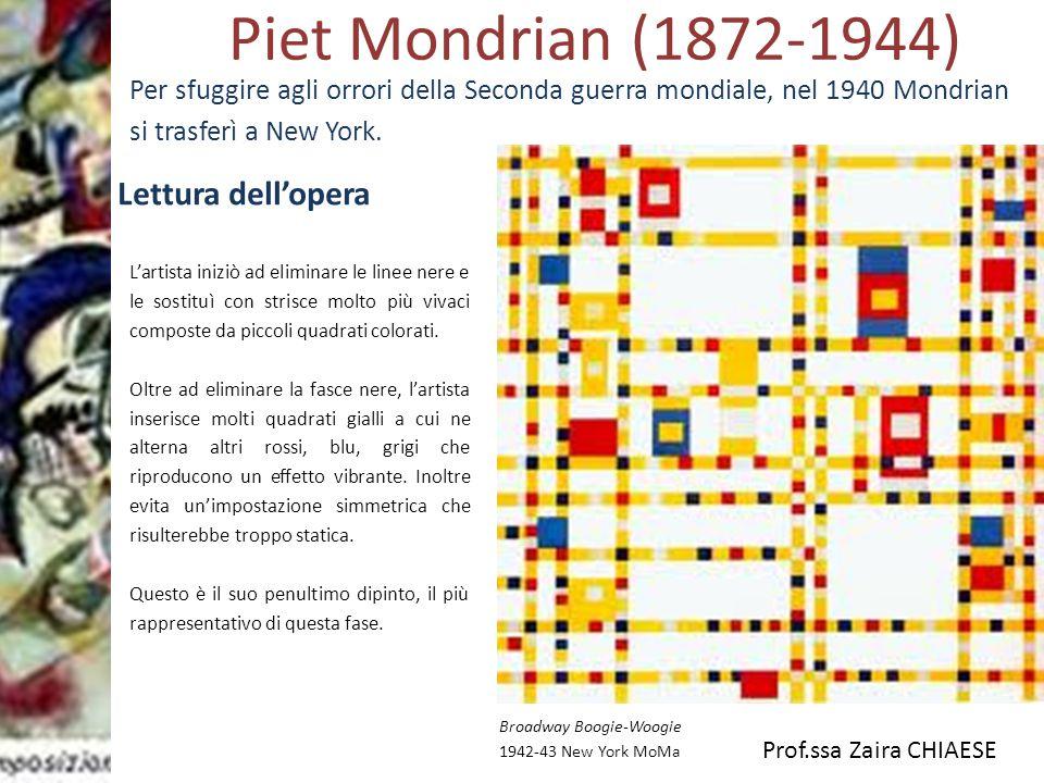 Piet Mondrian (1872-1944) Lettura dell'opera