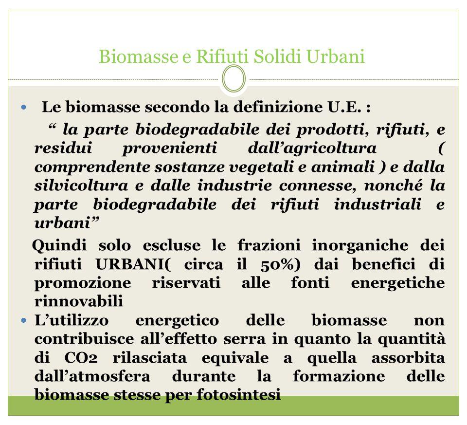 Biomasse e Rifiuti Solidi Urbani