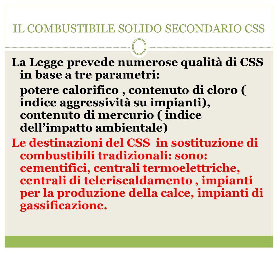 IL COMBUSTIBILE SOLIDO SECONDARIO CSS