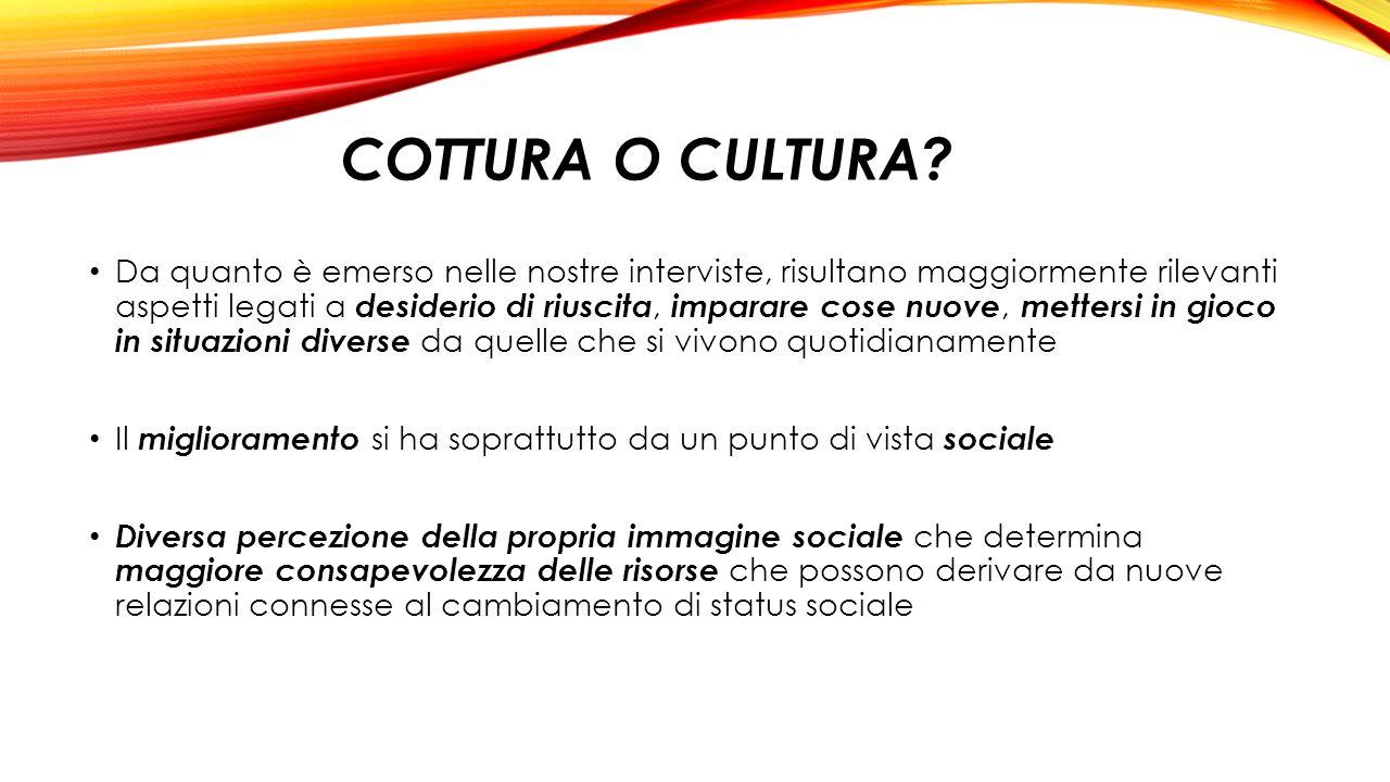 Cottura o Cultura