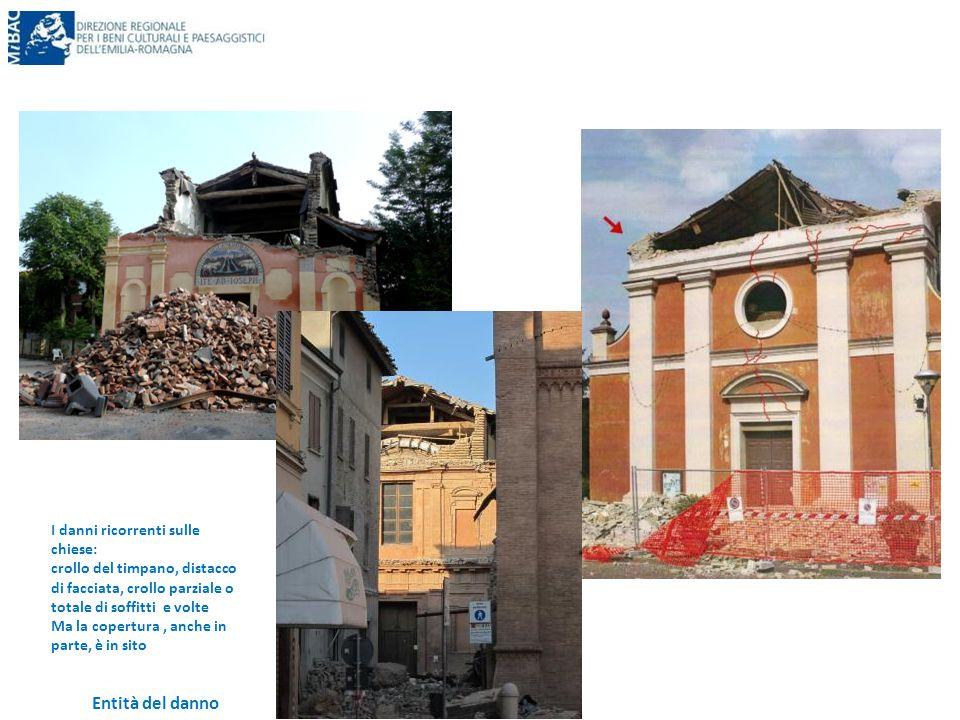 Entità del danno I danni ricorrenti sulle chiese: