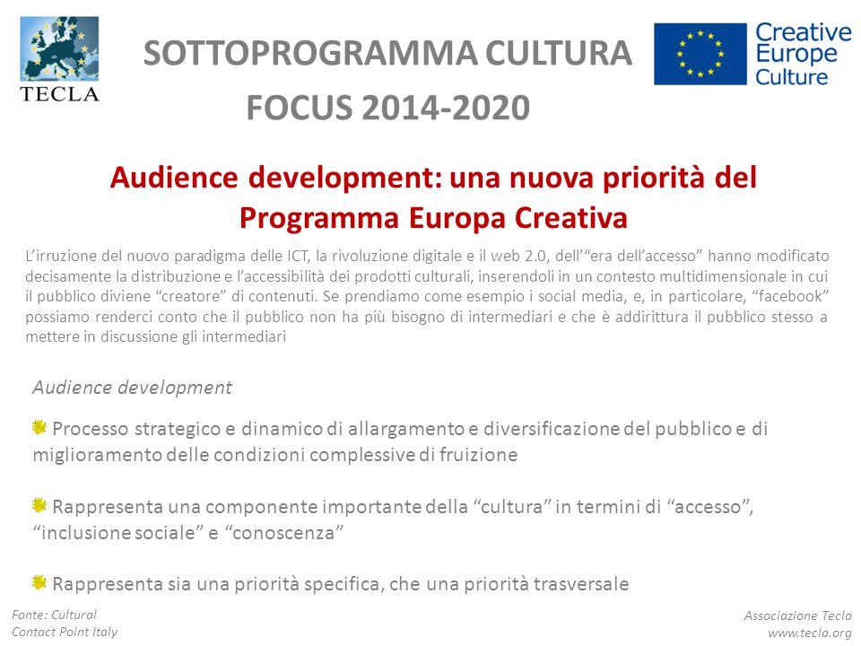 SOTTOPROGRAMMA CULTURA FOCUS 2014-2020