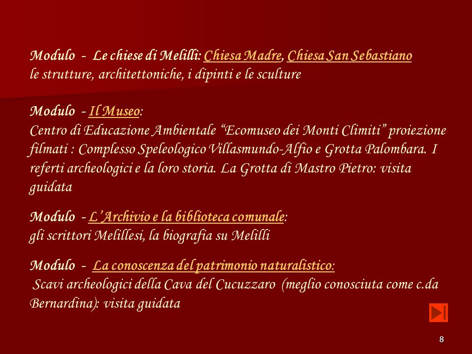 Modulo - Le chiese di Melilli: Chiesa Madre, Chiesa San Sebastiano