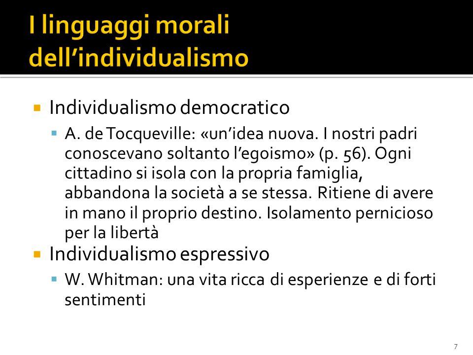 I linguaggi morali dell'individualismo