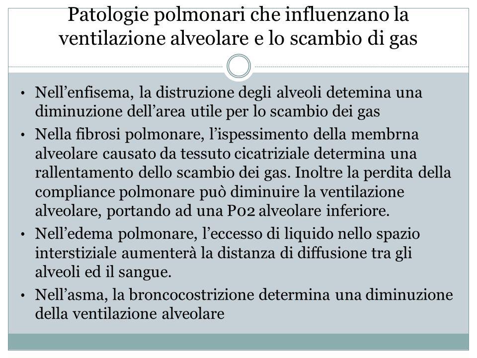 Patologie polmonari che influenzano la ventilazione alveolare e lo scambio di gas
