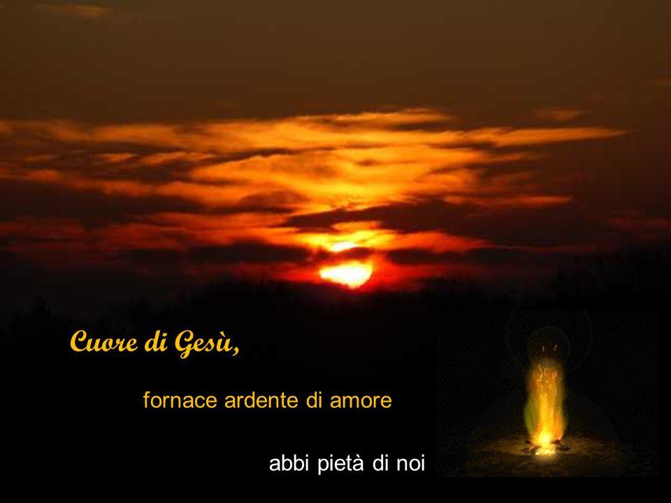 Cuore di Gesù, fornace ardente di amore abbi pietà di noi