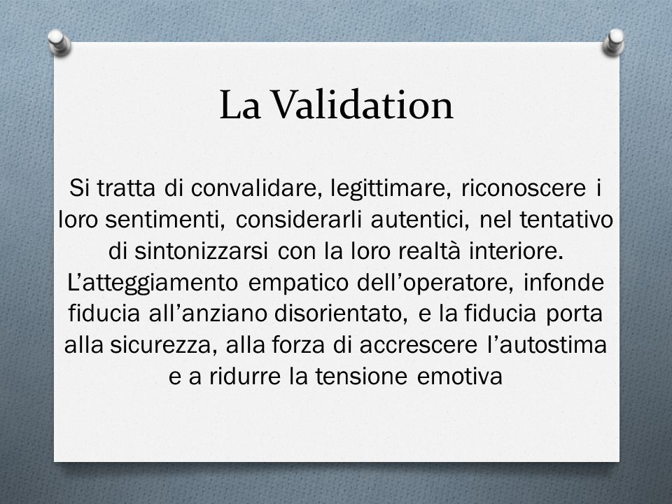 La Validation