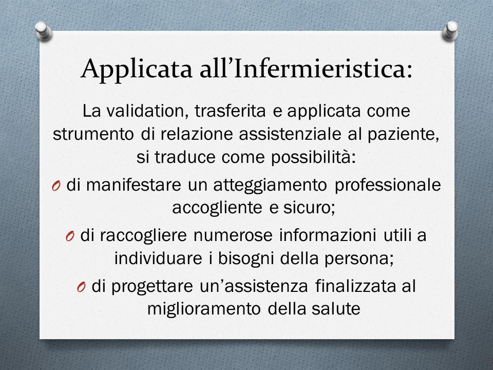 Applicata all'Infermieristica: