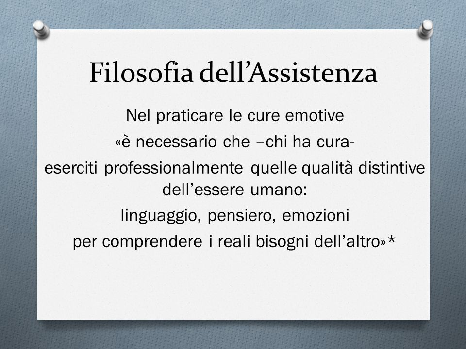 Filosofia dell'Assistenza