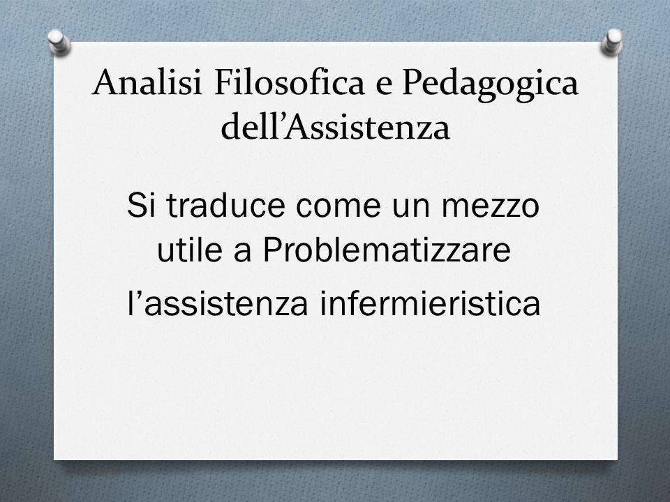 Analisi Filosofica e Pedagogica dell'Assistenza