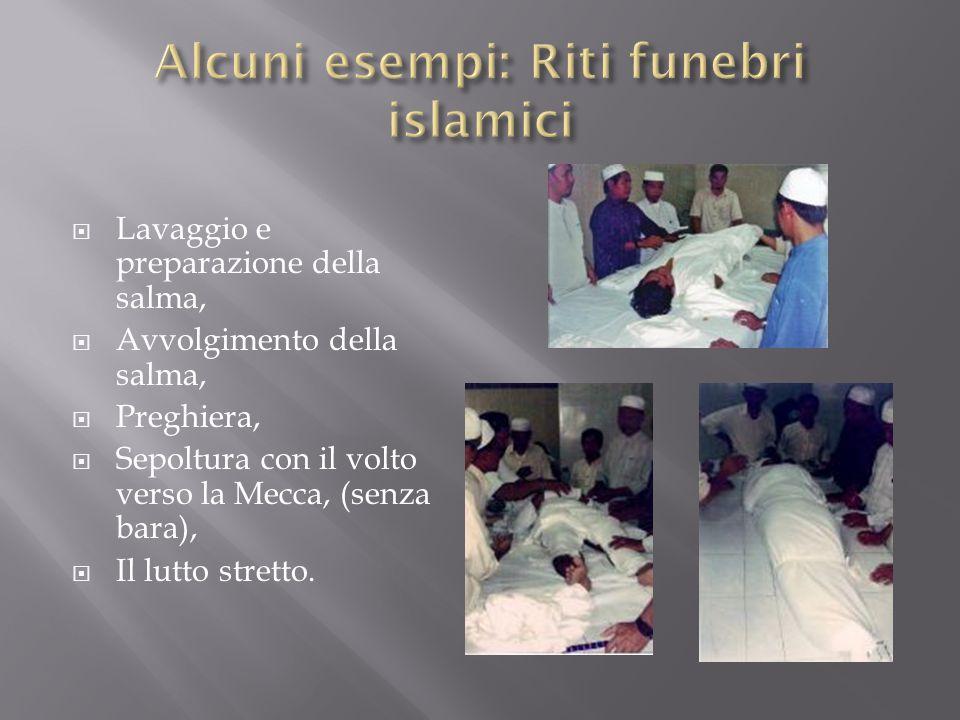 Alcuni esempi: Riti funebri islamici
