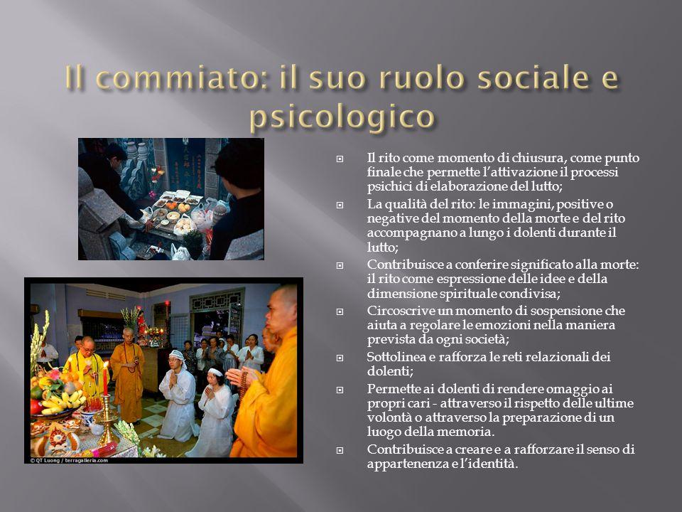 Il commiato: il suo ruolo sociale e psicologico
