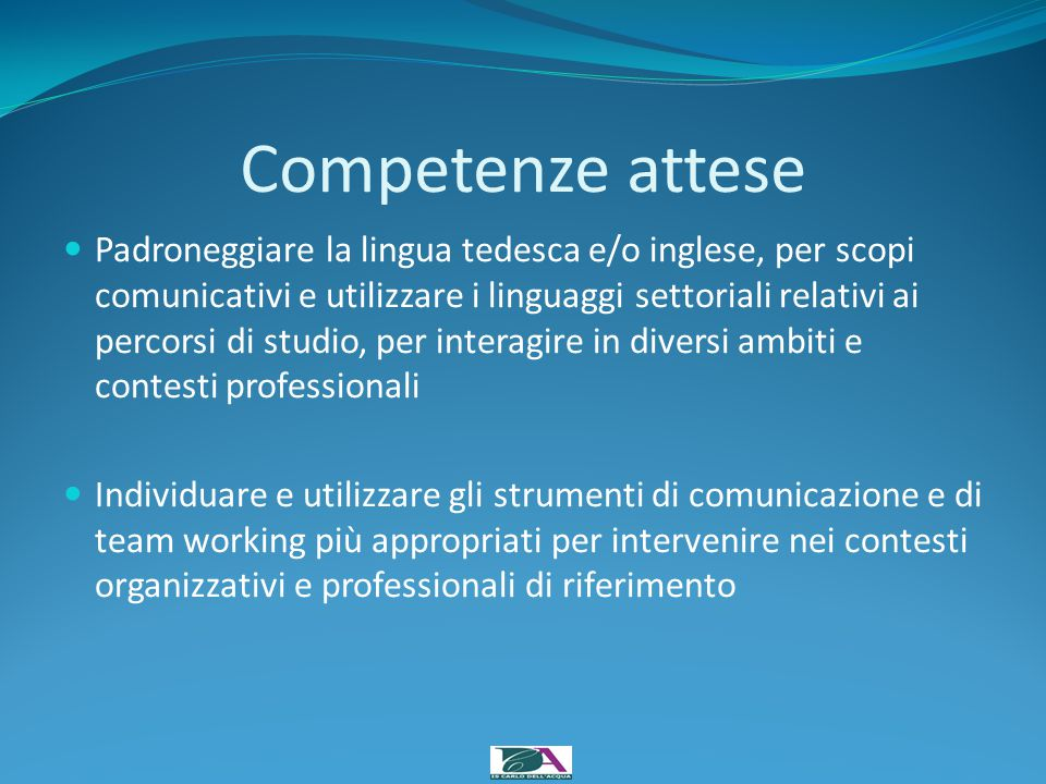 Competenze attese