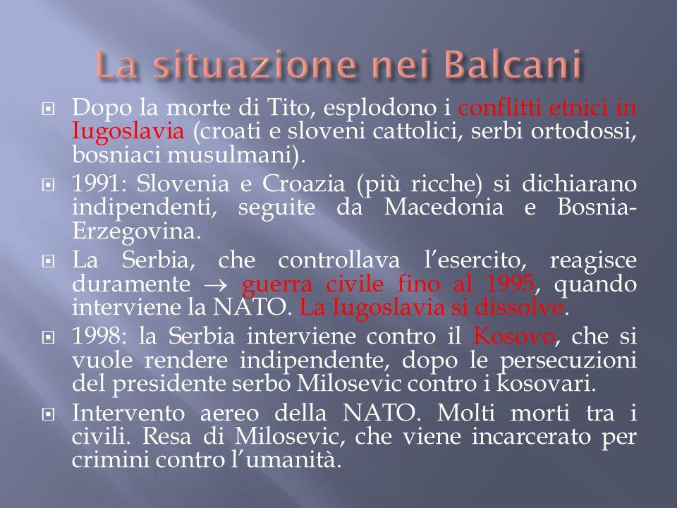 La situazione nei Balcani