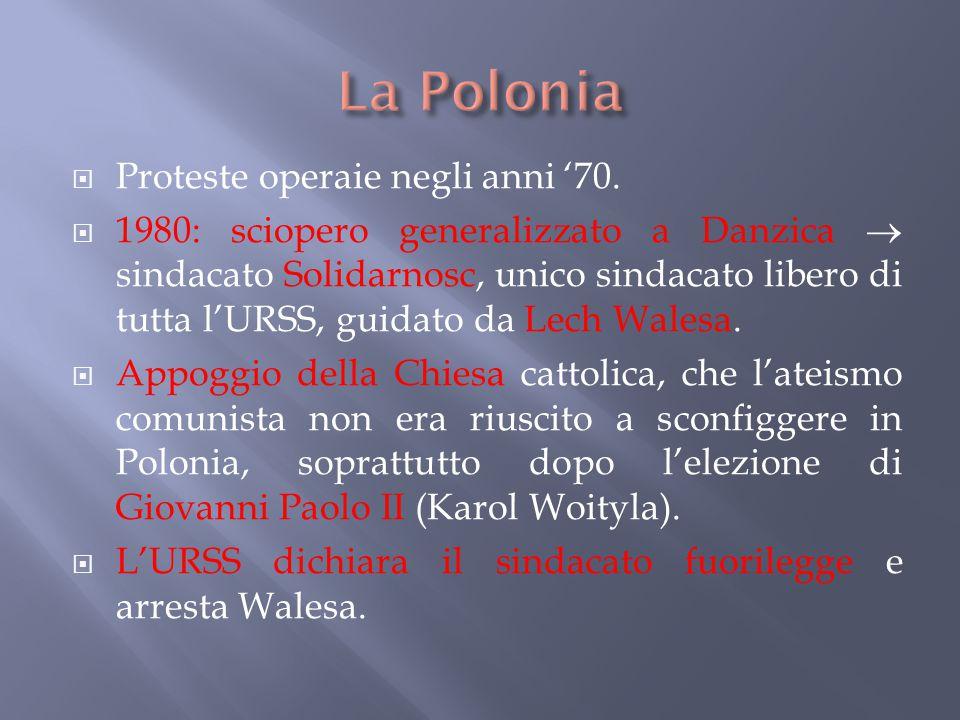 La Polonia Proteste operaie negli anni '70.