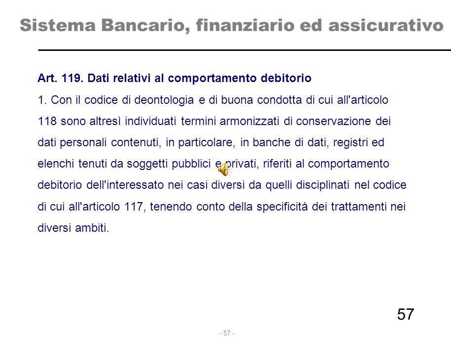 Sistema Bancario, finanziario ed assicurativo