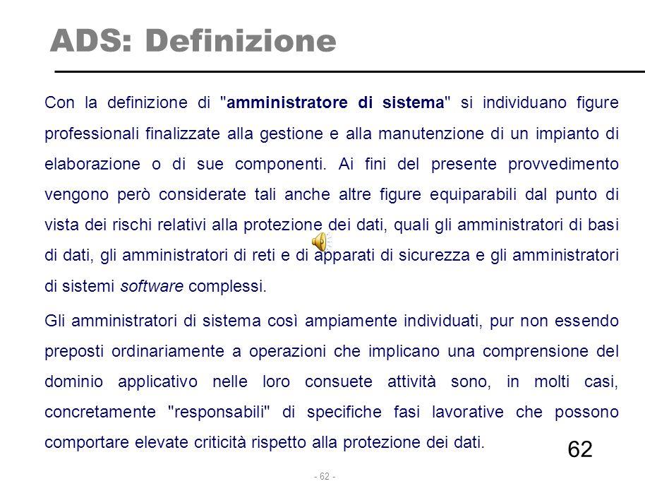 ADS: Definizione