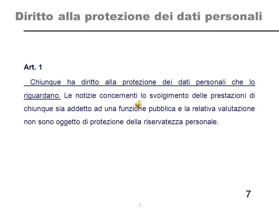 Diritto alla protezione dei dati personali
