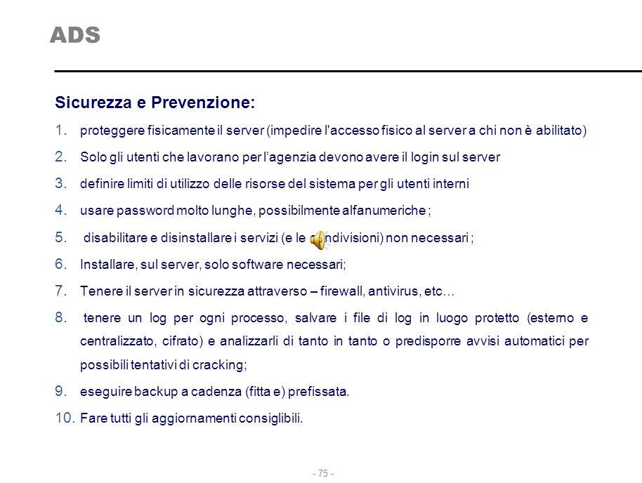 ADS Sicurezza e Prevenzione: