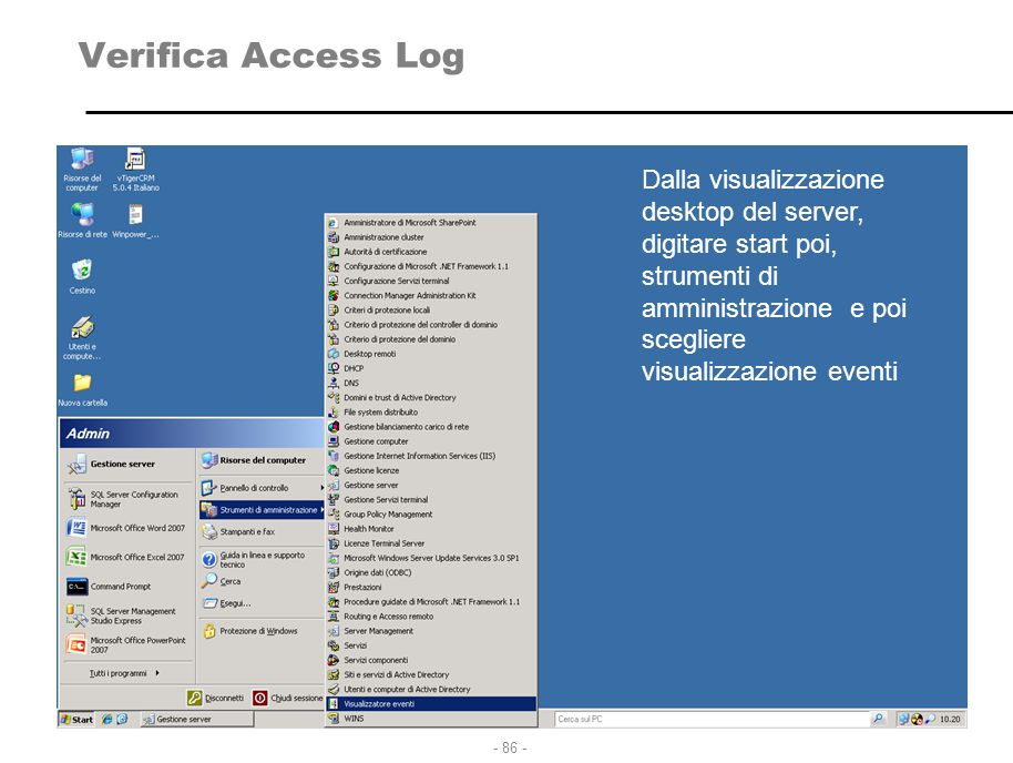 Verifica Access Log