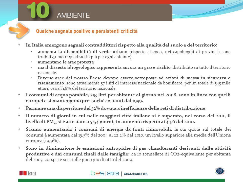 In Italia emergono segnali contraddittori rispetto alla qualità del suolo e del territorio: