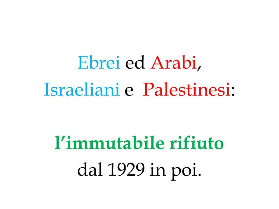 Israeliani e Palestinesi: