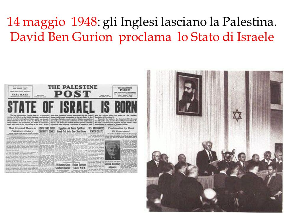 14 maggio 1948: gli Inglesi lasciano la Palestina