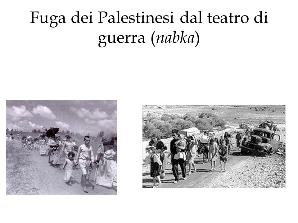 Fuga dei Palestinesi dal teatro di guerra (nabka)