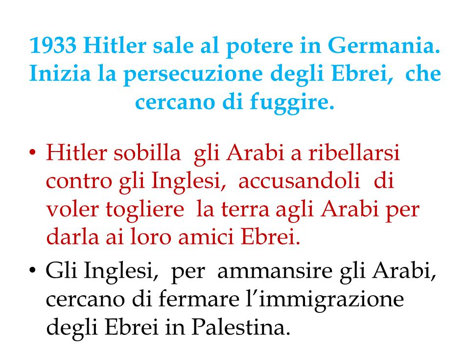 1933 Hitler sale al potere in Germania