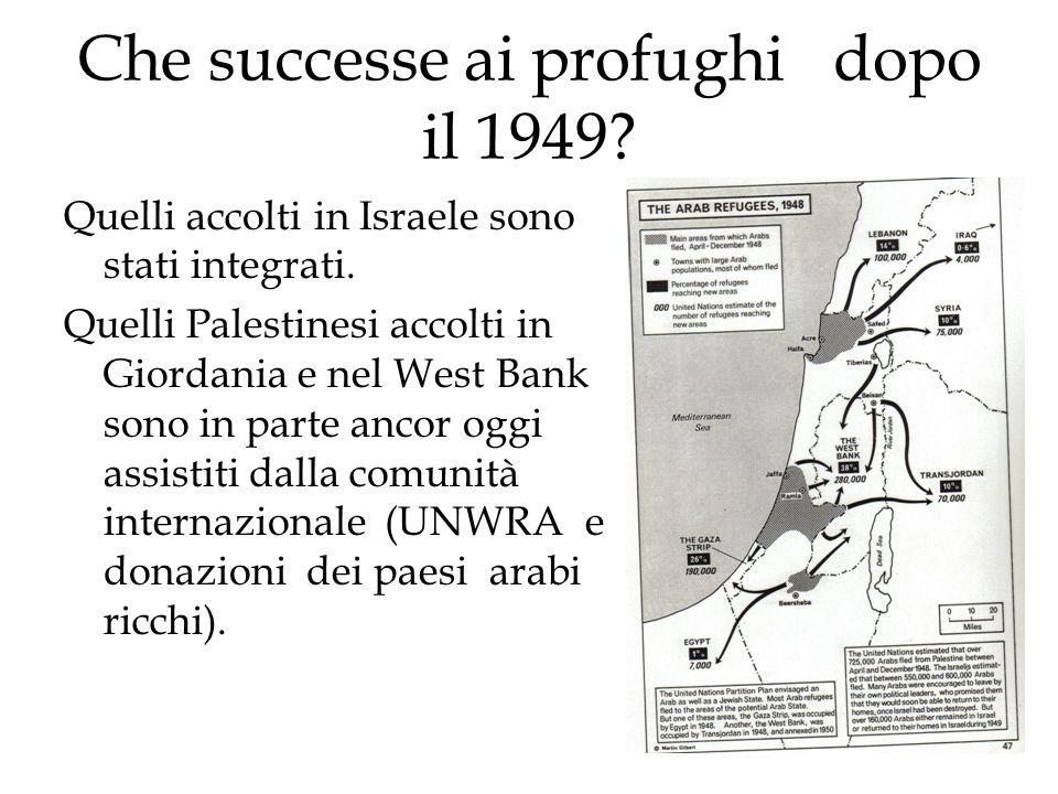Che successe ai profughi dopo il 1949